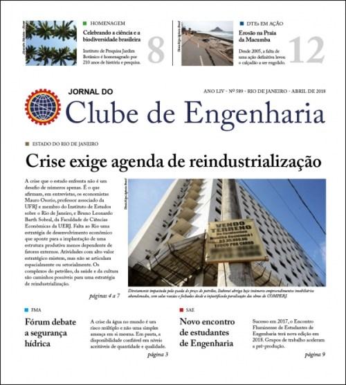 Jornal do Clube de Engenharia nº 589 - Abril de 2018