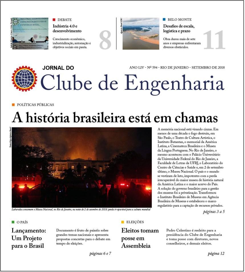 Jornal do Clube de Engenharia nº 594 – Setembro de 2018