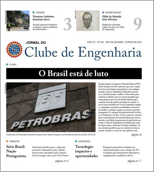 Jornal do Clube de Engenharia nº 603 – Junho de 2019