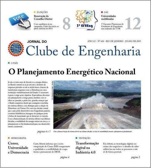 Jornal do Clube de Engenharia nº 604 – Julho de 2019