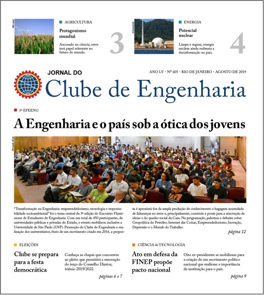 Jornal do Clube de Engenharia nº 605 – Agosto de 2019