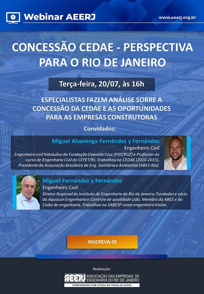 Concessão da Cedae e perspectivas para o Rio de Janeiro