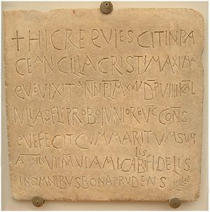 300px-Early_Christian_Funerary_inscription