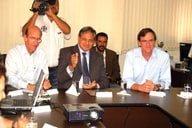 Reunião entre Prefeitura e Saneago em Anápolis