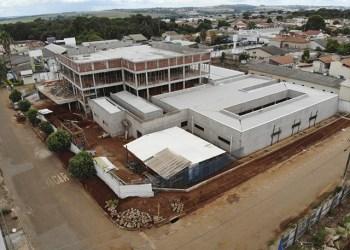 Vista aérea do novo complexo educativo/administrativo/laboratorial da APAE Anápolis