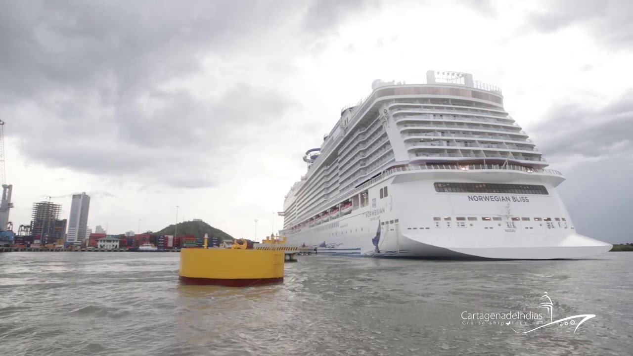 Video: Así fue el arribo del Norwegian Bliss a Cartagena de Indias