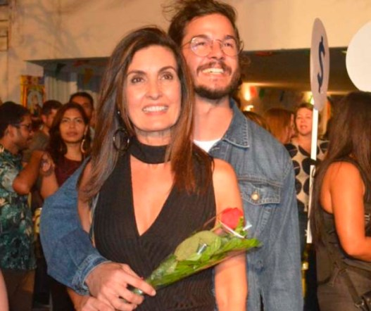 Fátima Bernardes e o namorado