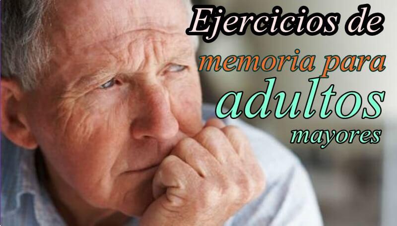 Colección de ejercicios de memoria para adultos mayores - Portal de ...