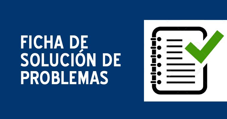 Ficha para solución de problemas en los alumnos