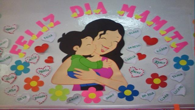 Linda ambientaci n para el aula en el d a de la madre for Decoracion para el dia de la madre