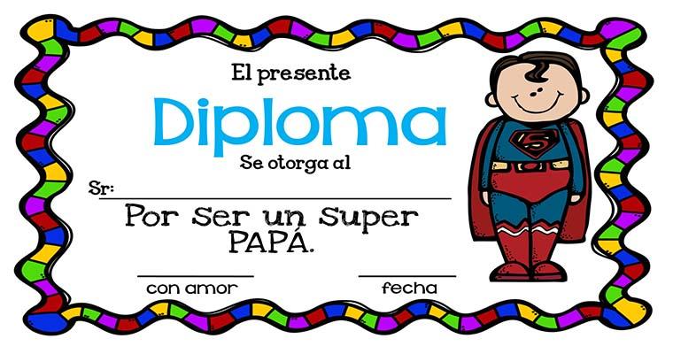 Geniales Diplomas para el día del Padre