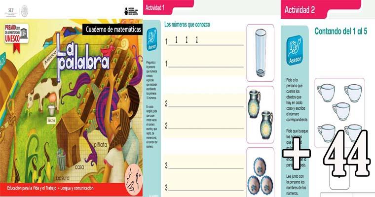 Cuaderno de Matemáticas 1º y 2º Grado (Educación Primaria )