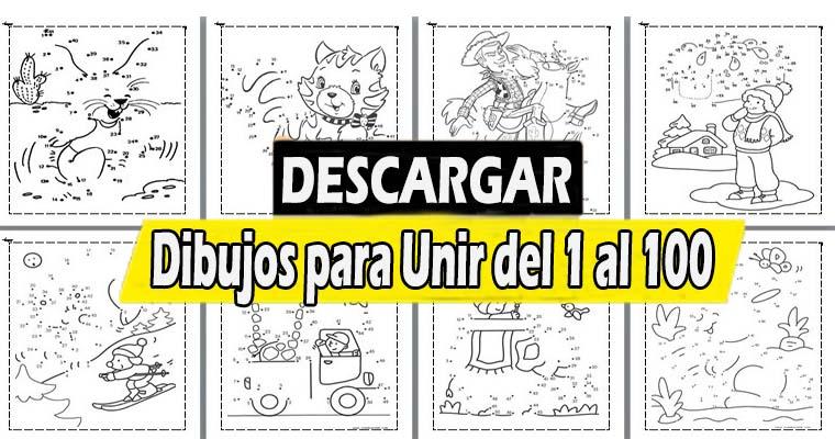 Dibujos para Unir del 1 al 100 para Imprimir