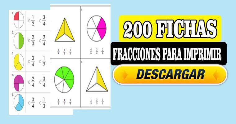 200 Fichas de Fracciones para Imprimir