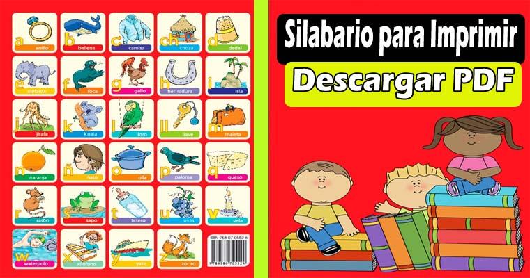 Silabario Para Imprimir Descargar Pdf Portal De Educacion