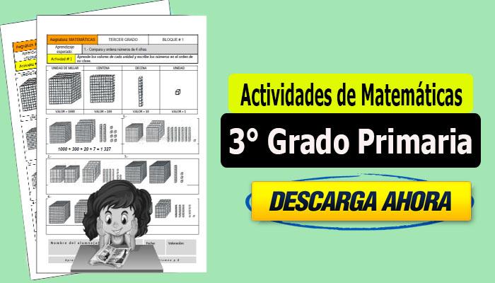 Actividades de Matemáticas para 3° Grado Primaria