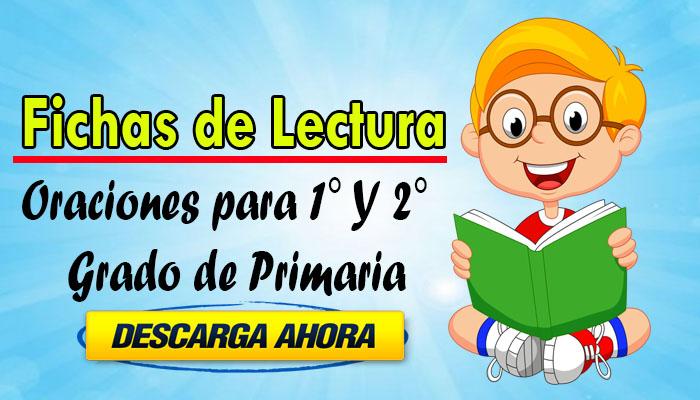 Fichas de Lectura de Oraciones para 1° Y 2°  Grado de Primaria