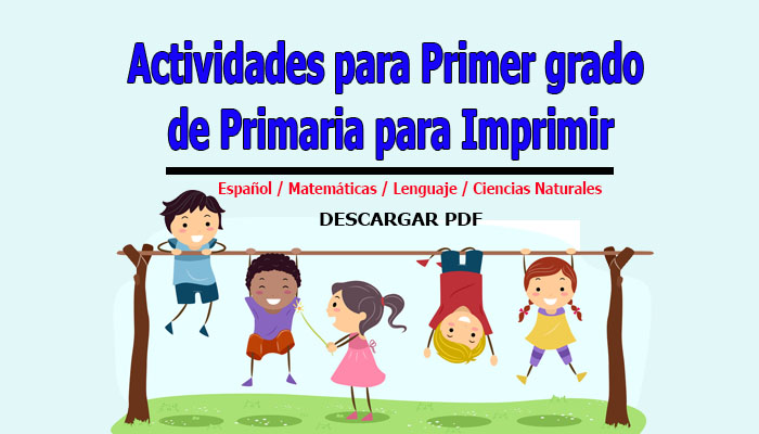 Actividades para Primer grado de Primaria para Imprimir