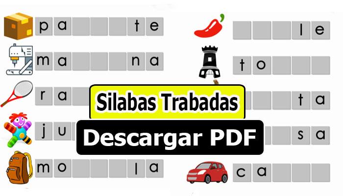 Silabas Trabadas para Imprimir ( Descargar PDF )