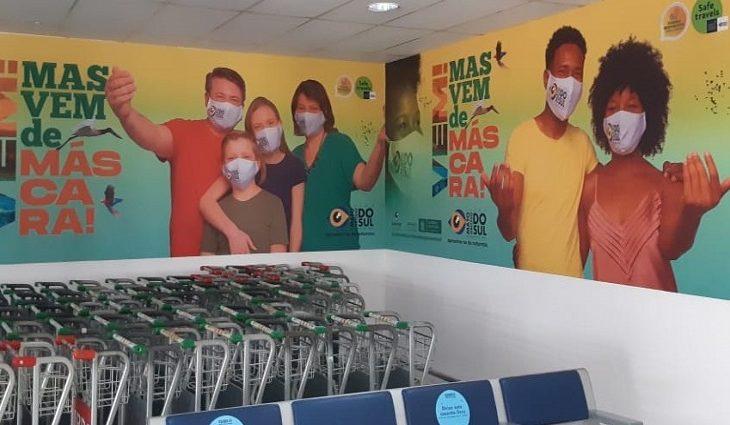 """""""Vem, mas vem de máscara!': Fundtur MS finaliza 2020 com ações em aeroportos brasileiros"""