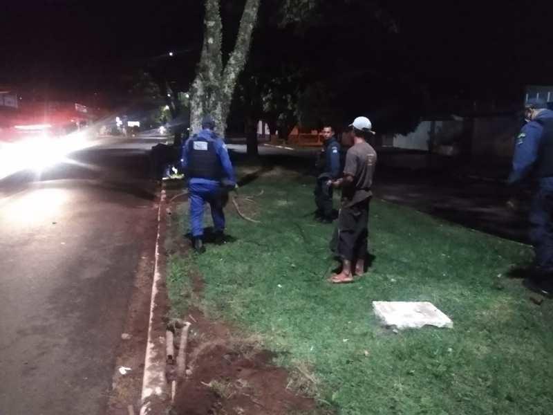 """""""Tatu"""" foi preso tentando furtar """"fios"""" em Ponta Porã"""