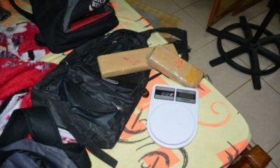 Polícia Militar em Ji-Paraná apreende mais de 1 quilo de maconha e prende suspeitos
