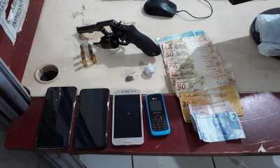 Batalhão de Choque usa cão farejador e apreende arma e drogas no Orgulho do Madeira
