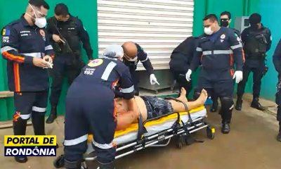 Comerciante é atacado com quatro tiros após descer de caminhonete em Porto Velho