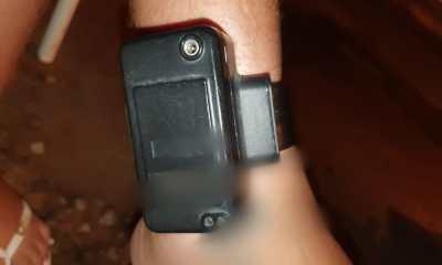 Polícia Militar encontra tornozeleira eletrônica dentro de uma sacola no interior de Rondônia