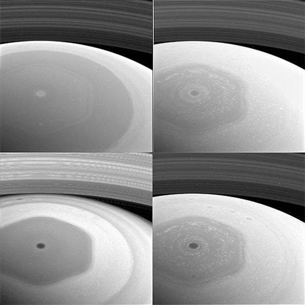 Hemisfério Norte de Saturno - Mosaico de imagens.