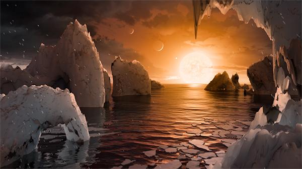 Possível superfície de TRAPPIST-1f