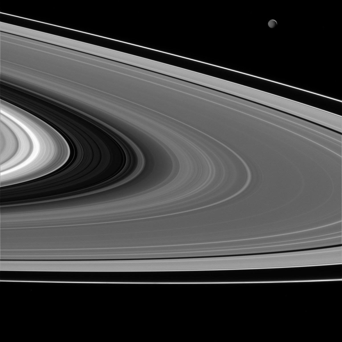 Alguns dos anéis de Saturno são quentes e pouco definidos