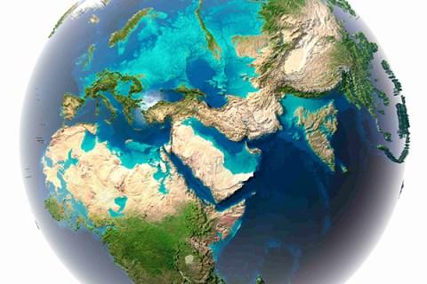 Terra com cobertura oceânica de 80%.