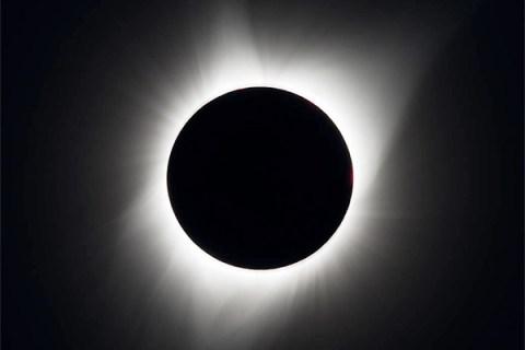 O eclipse total em Madras, Oregon.