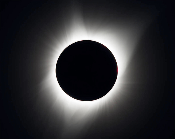 O eclipse total em Madras, Oregon.
