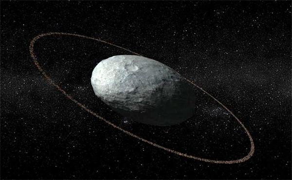 O planeta anão Haumea tem um anel