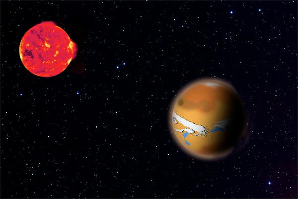 TRAPPIST 1 e TRAPPIST 1d.