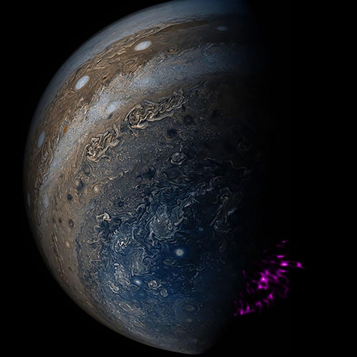As luzes que dançam no céu de Júpiter