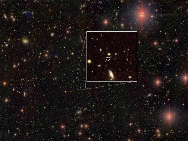Luz de um quasar.