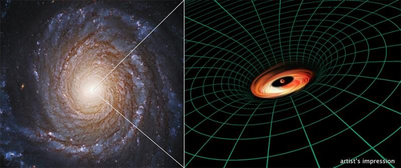 NGC 3147 e buraco negro central.