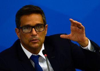 O  presidente do Banco Central, Roberto Campos Neto falam à imprensa no Palácio do Planalto, sobre as ações de enfrentamento ao covid-19 no país