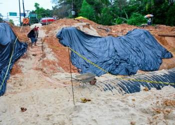 Prefeitura alcança 45% de execução da obra emergencial na avenida Mário Ypiranga