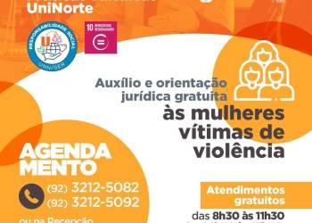 UniNorte realiza plantão jurídico e psicológico para mulheres vítimas de violência