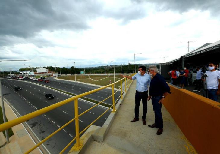 Governador Wilson Lima inaugura viaduto Lydia da Eira Corrêa, maior viaduto da região Norte e maior complexo viário de Manaus