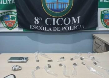 Polícia Militar apreende adolescente envolvido com o tráfico de drogas no bairro Compensa