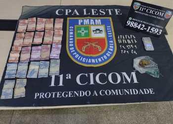 Polícia Militar detém jovem por tráfico de drogas no bairro Coroado, na zona leste