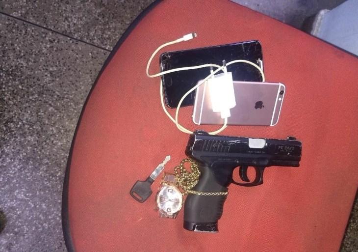 Polícia Militar detém homem e apreende adolescente por roubo de celulares na Cidade Nova