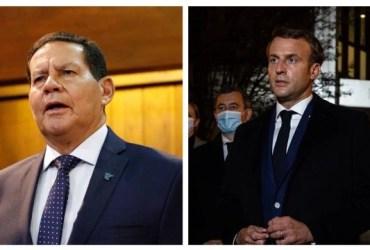 Mourão rebate críticas do líder francês: 'Macron não está bem'