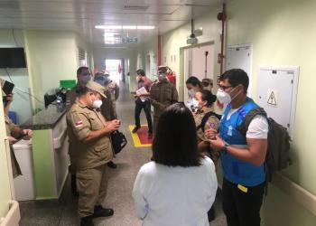 Bombeiros militares reforçam atendimento no Hospital Universitário Getúlio Vargas