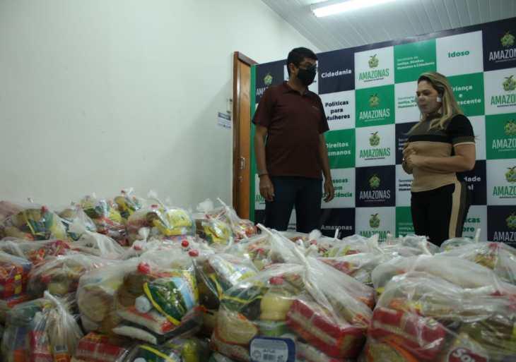Sejusc doa 150 cestas básicas para a Secretaria de Estado de Cultura e Economia Criativa
